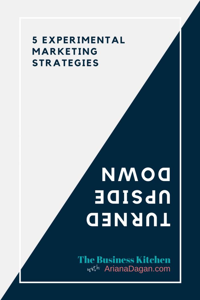 experimental marketing strategies