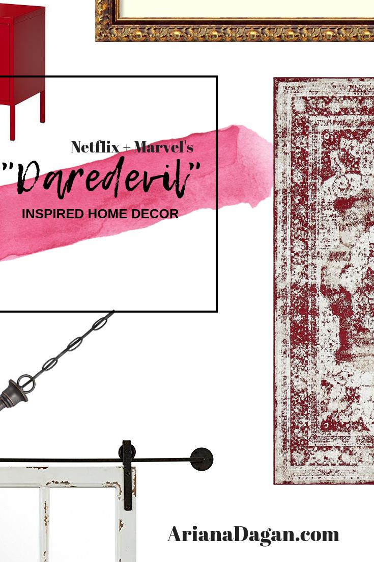 daredevil inspired home decor