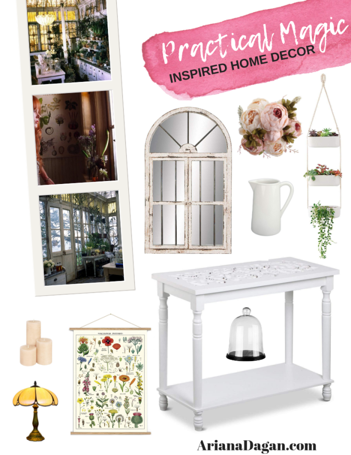 Practical magic inspired home decor