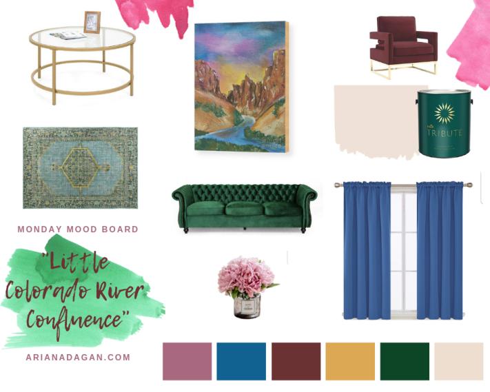 Little Colorado River Confluence Room Decor by Ariana Dagan